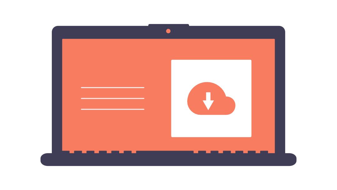 ordinateur disposant d'une sauvegarde des données via le cloud.