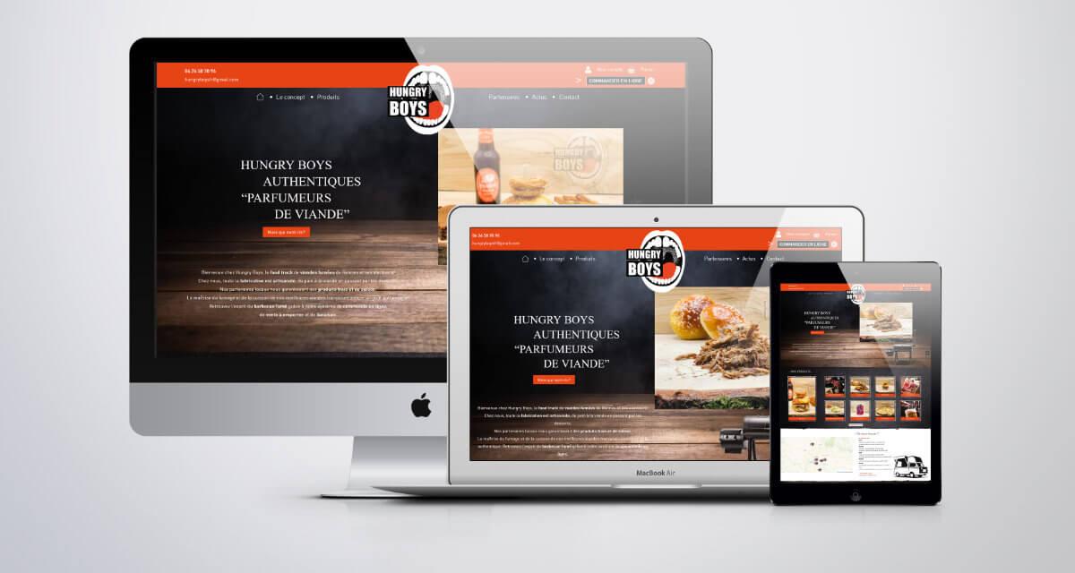 développement du site internet e-commerce Hungry Boys Rennes