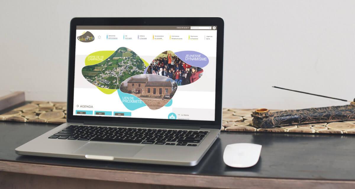 dévelippement site internet mairie de saint pern